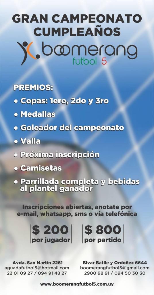 Campeonato fútbol 5
