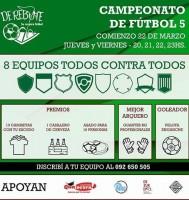 Campeonato de Fútbol 5 en DeRebote
